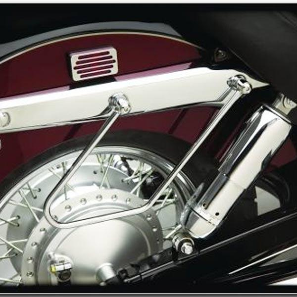 Show Chrome Saddlebag Support Stays for 2002-2008 Honda VT750 Spirit DC