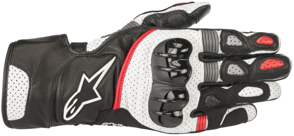 Alpinestars Men's SP-2 v2 Black, White and Red Gloves - Alpinestars Gloves