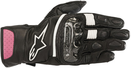 Alpinestars Women's Stella SP-2 v2 Black and Fuchsia Gloves - Alpinestars Gloves