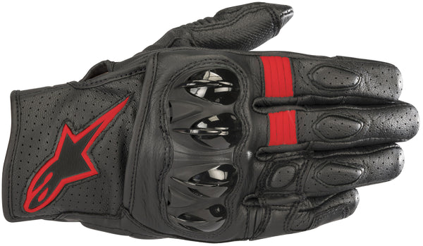 Alpinestars Men's Celer V2 Black and Fluorescent Red Gloves - Alpinestars Gloves