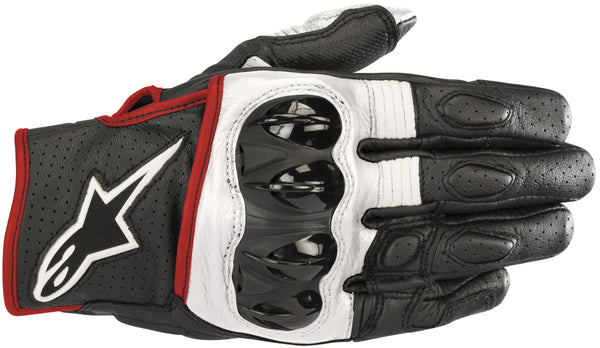 Alpinestars Men's Celer V2 Black, White and Fluorescent Red Gloves - Alpinestars Gloves