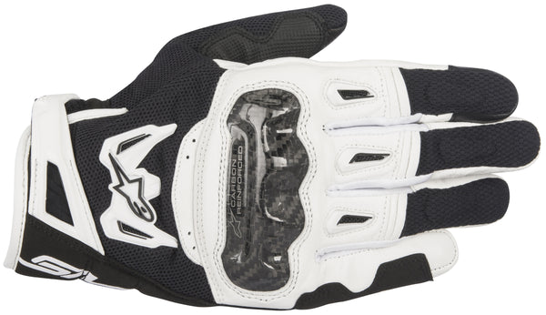 Alpinestars Men's SMX-2 Air Carbon v2 Black and White Gloves