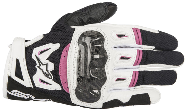 Alpinestars Women's Stella SMX-2 Air Carbon v2 Black, White and Fuchsia Gloves - Alpinestars Gloves