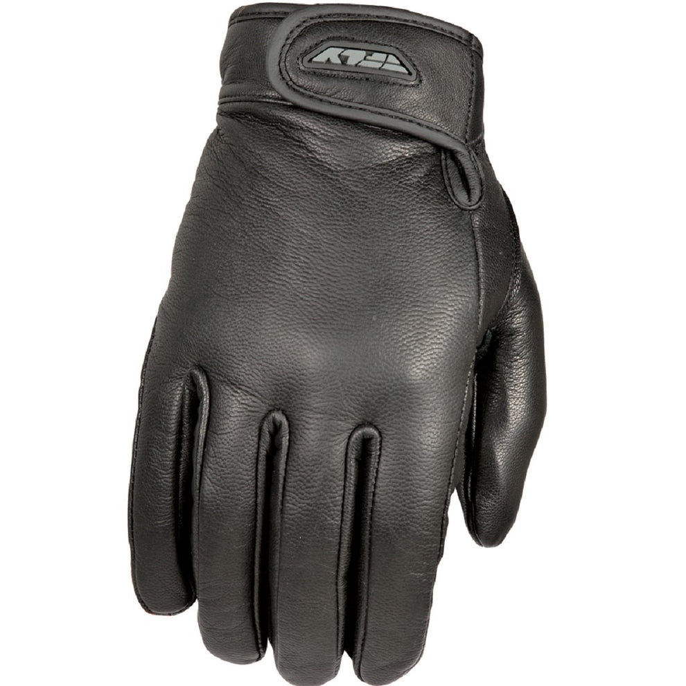 Fly Racing 'Rumble' Thin Black Leather Gloves