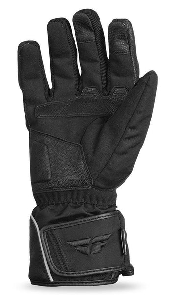 Fly Racing 'Xplore' Black Leather Snowmobile Gloves - N/A