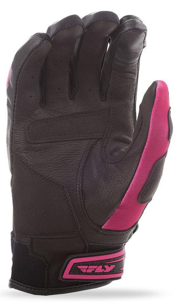 Fly Racing Venus Women's Pink and Black Leather and Textile Gloves - N/A