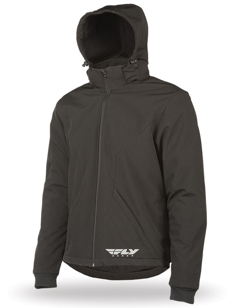 Fly Racing Men's Black Armored Tech Hoody