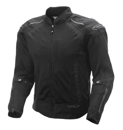 Fly Racing Coolpro Men's Black Mesh Jacket with Armor - N/A