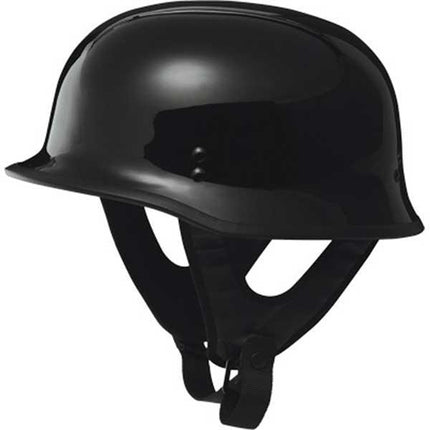 Fly Racing 9mm Gloss Black Half Helmet