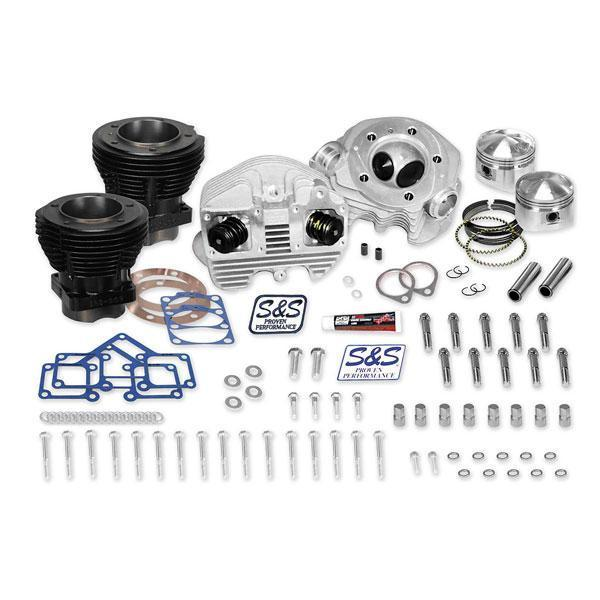 S&S 80 in. Top End Kit for Harley Davidson 1979-84 Shovelhead engines, 4-1/4 in. stroke, 8:1 Compression Ratio