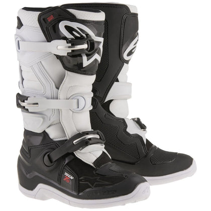 Alpinestars Tech 7S Youth Black/White Motocross Boots - N/A