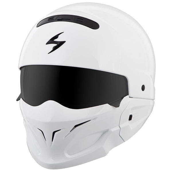 Scorpion Covert Gloss  White 3-in-1 Motorcycle Helmet - Scorpion Full Face Helmets