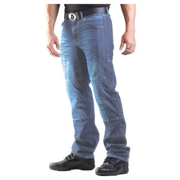 Closeout-Drayko Mens Blue Drift Riding Jeans