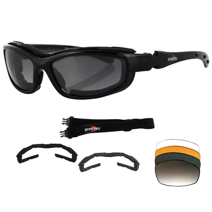 Bobster Road Hog II Convertible and Interchangeable Sunglasses/Goggles