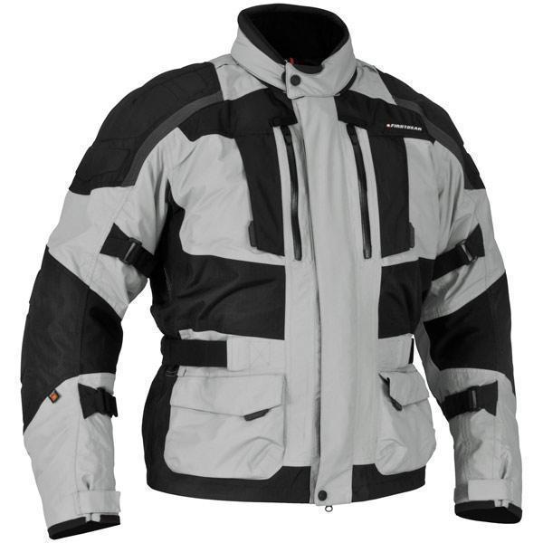 Firstgear 'Kathmandu' Mens Black/Gray Textile Jacket - N/A