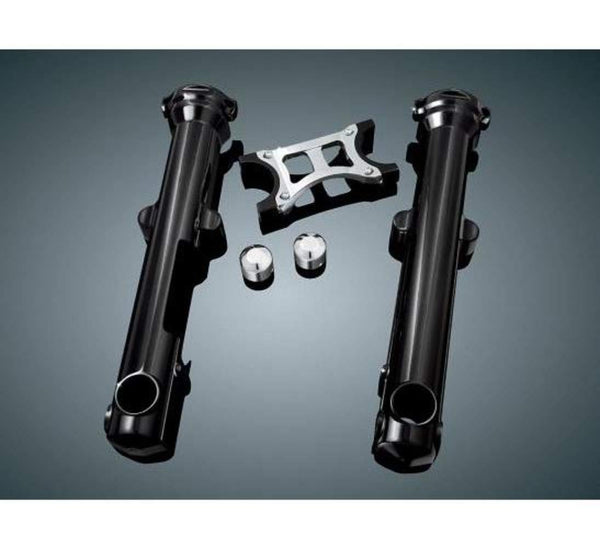 Kuryakyn Fork Skins for Harley Davidson 2004-13 Sportster Models with Single Disc Front End (exclusions apply) - N/A
