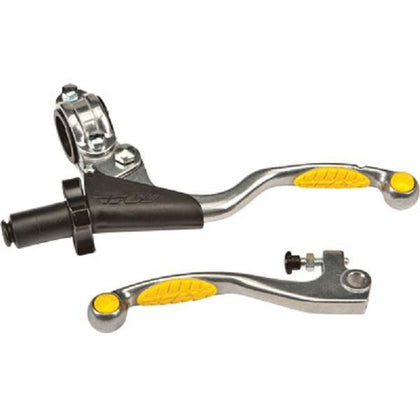 Fly Racing Pro Perch Combo Yellow Grip Lever for Honda 2007-14 CRF250/450 - N/A