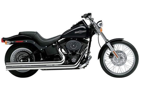 Cobra Long Shotgun Speedsters Chrome Complete System Exhaust for Harley Davidso - N/A
