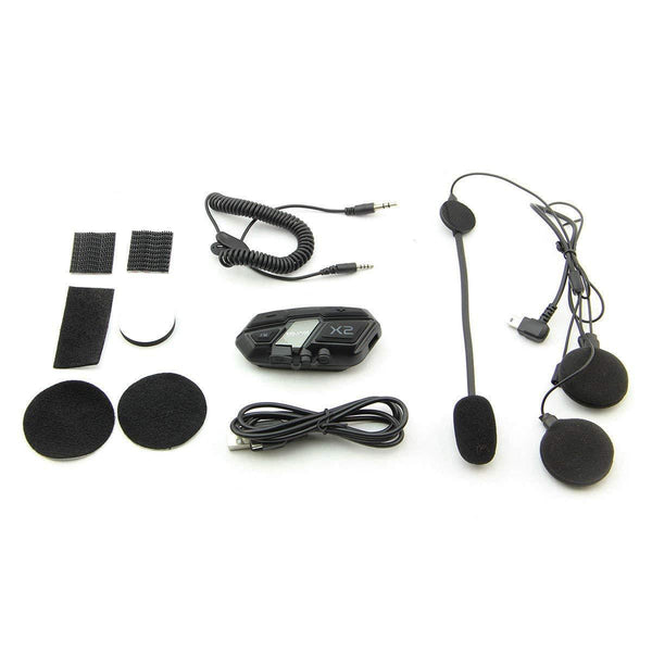 Hawk X2 Bluetooth Motorcycle Helmet Headset - Hawk Helmet Audio Accessories