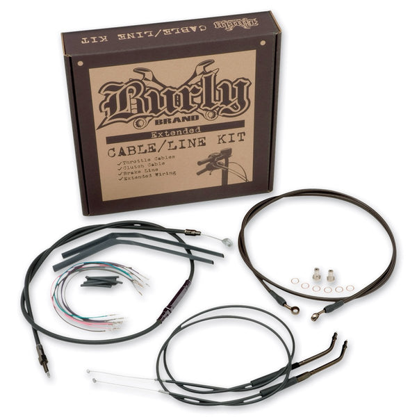Burly Brand Cable/Brake Line Kit for Gorilla Bars for Harley Davidson 2006 FXDW - N/A