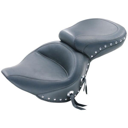 Mustang Studded Wide Touring Seat for Harley Davidson 2006-15 Dyna models