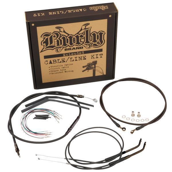 Burly Brand Cable/Brake Line Kit for Ape Hangers for Harley Davidson 1996-2005 FXD Models - N/A