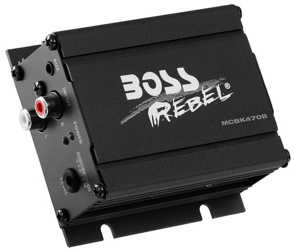 Boss Audio MCBK470B Black 1000 Watt Motorcycle/ATV Sound System with Bluetooth Audio Streaming - N/A