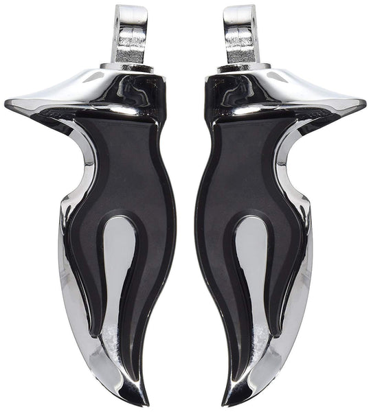 Kuryakyn Flamin Footpegs with Male Mount for Harley Davidson 1981-2010 Road King, Electra Glide, Heritage Softail models - N/A