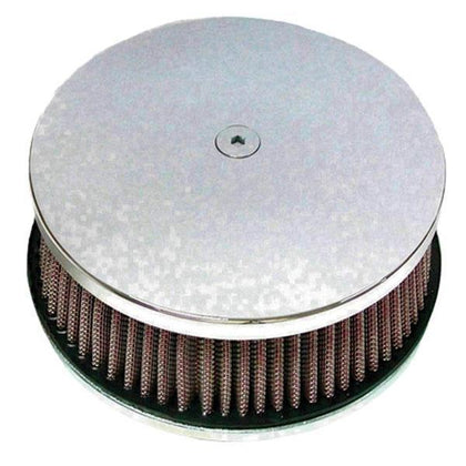 HardDrive Chrome HP Classic Smooth Custom Round Air Cleaner for Harley Davidson