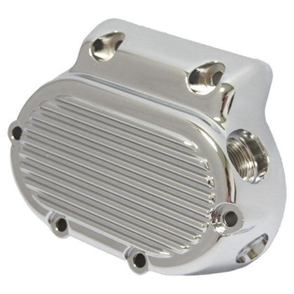 HardDrive Finned Chrome Transmission Side Cover for Harley Davidson 1987-Up 5-Speed Big Twins - N/A