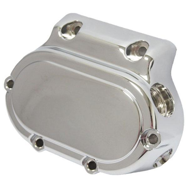 HardDrive Smooth Chrome Transmission Side Cover for Harley Davidson 1987-Up 5-Speed Big Twins