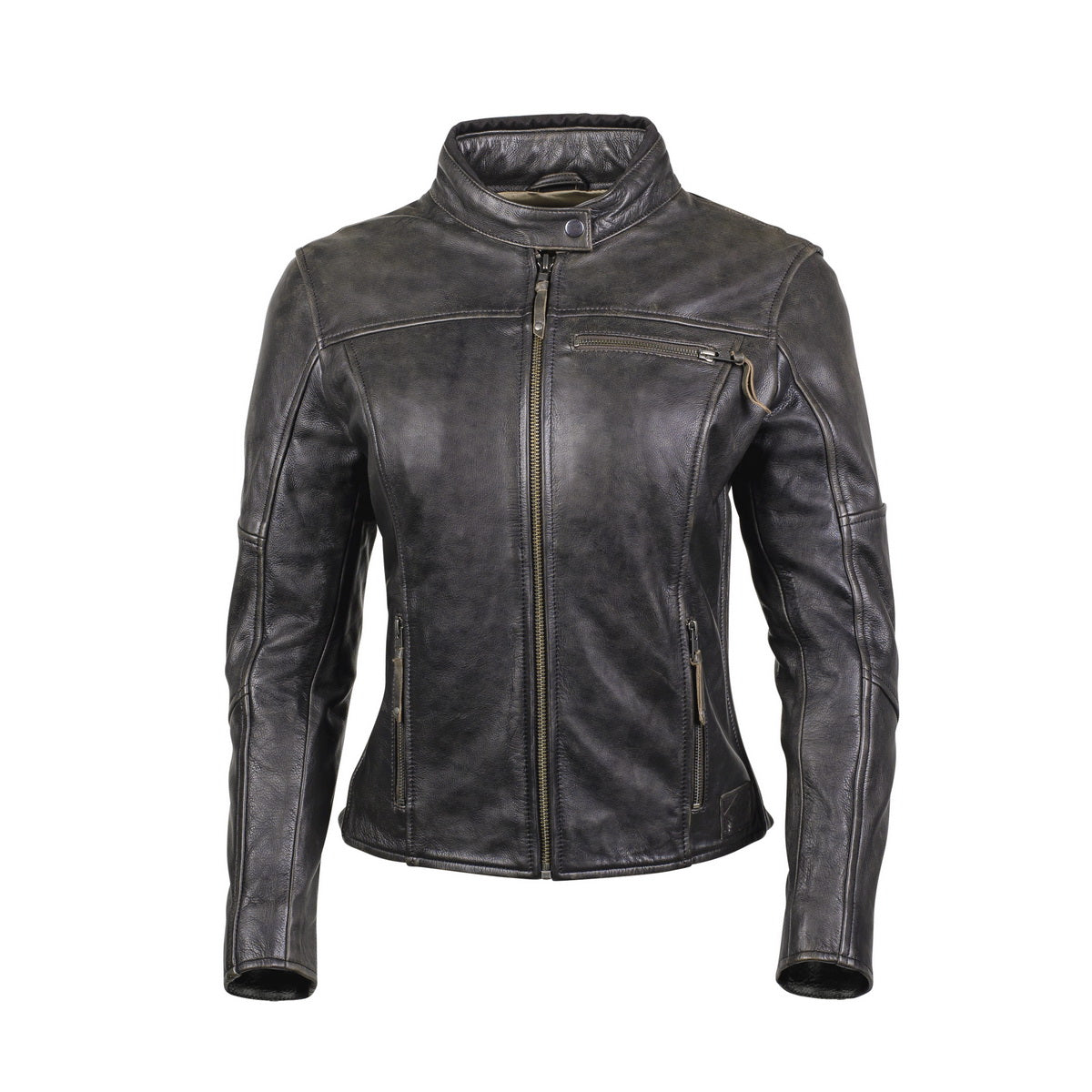 Cortech /'The Lolo/' Women/'s Brown Traditional Premium Leather Jacket with SAS-TEC Armor
