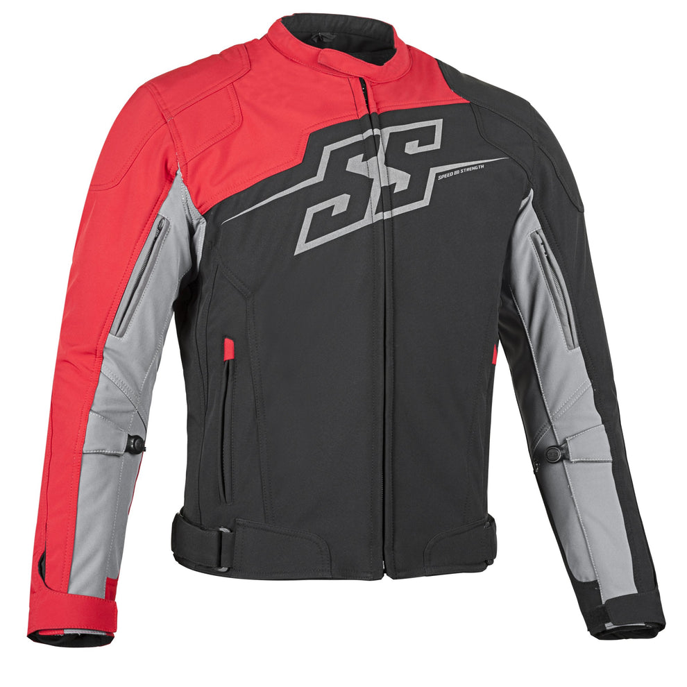 Speed and Strength Hammer Down Men's Red/Black Textile Jacket