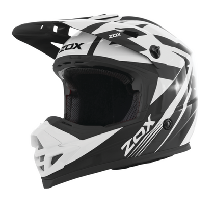 ZOX ST-1563V2 'Rush V2' White and Black Motocross Helmet - ZOX Motorcross Helmets