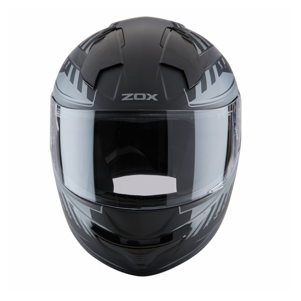 ZOX ST-11118 'Thunder 2' Blade Matte Grey and Black Full-Face Motorcycle Helmet - ZOX Full Face Helmets