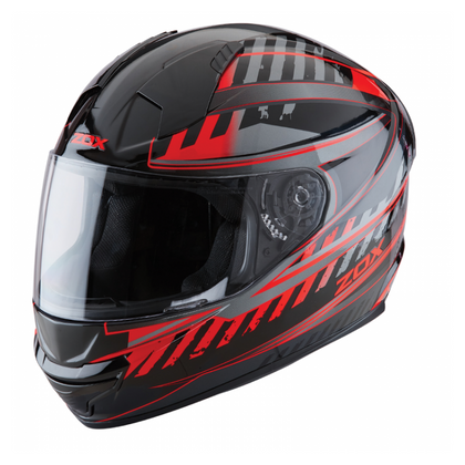 ZOX ST-11118 'Thunder 2' Blade Red and Black Full-Face Motorcycle Helmet - ZOX Full Face Helmets