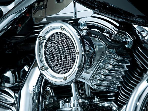 Kuryakyn Velociraptor Air Cleaner for Harley Davidson 1999-2013 Twin Cam  with CV Carb or Delphi EFI - Chrome