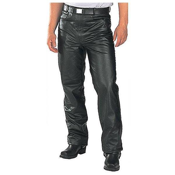 Xelement B7400 'Classic' Men's Fitted Leather Pants