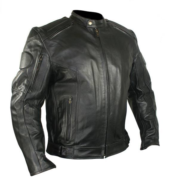 Xelement B7366 'Executioner' Men's Black Leather Racer Jacket