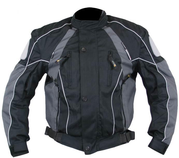 Xelement CF350 'Armored' Men's Gray and Black Textile Jacket