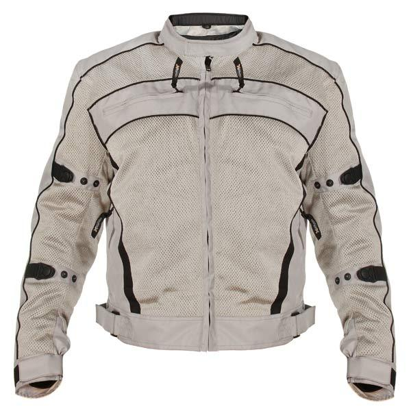 Xelement CF378 'Igniter' Men's Silver Armored Tri-Tex Jacket