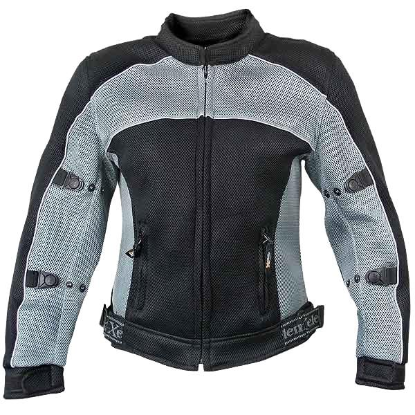 Xelement CF507 Women's Black/Grey Mesh Jacket with Advanced Level-3 Armor