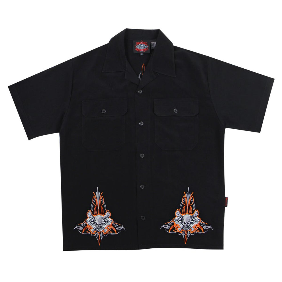 Dragonfly Roadhouse Fuel Button up Short Sleeve Shirt