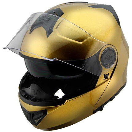 Hawk H-70 Solid Gold Modular Motorcycle Helmet