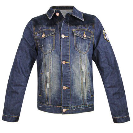 Delux Men's Vintage Blue Denim Casual Jacket