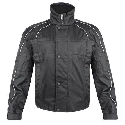 Snow Master Men's Flurry Insul Tex Black Cold Weather Motorcycle/Snowmobile Jacket