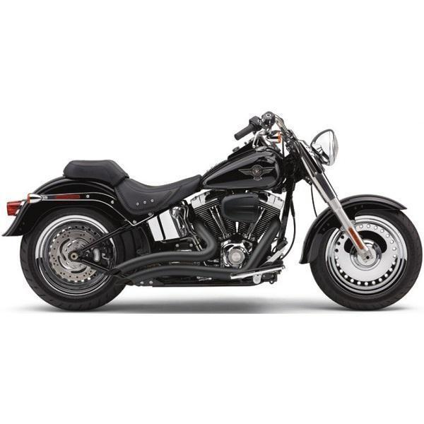 Cobra Short Swept Speedster Black Complete Exhaust System for Harley Davidson 2013 Softail Breakout