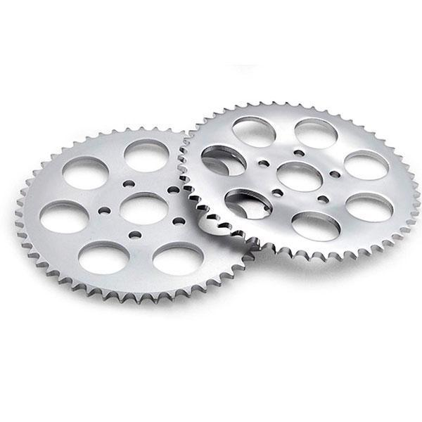 Twin Power 47 Tooth Chrome Plated Flat Rear Sprocket for Harley Davidson 1986-92 Sportster models