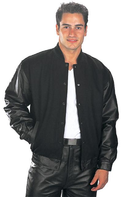 USA Leather 'Classic' Mens Black Leather Jacket