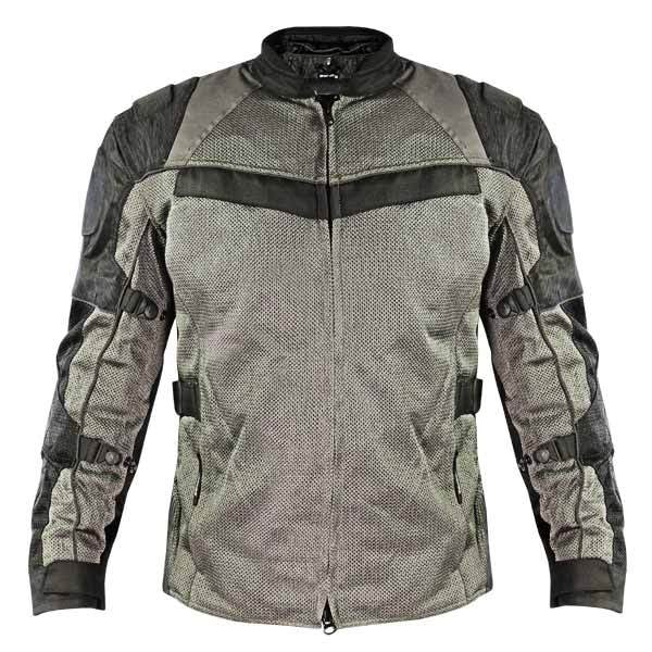 Xelement XS8162 'All Season' Men's Black/Grey Tri-Tex/Mesh Jacket